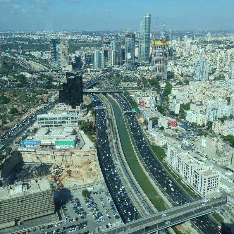 Tel Aviv Yafo view stock photo