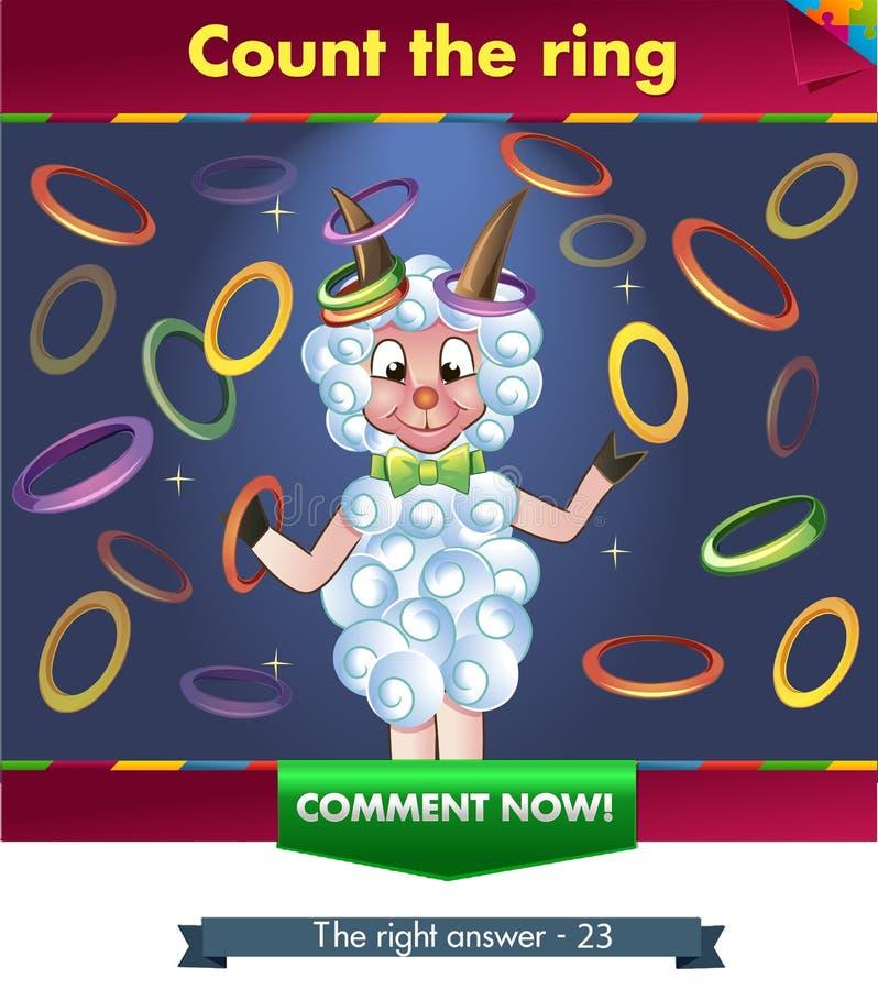 Tel de ringen royalty-vrije illustratie
