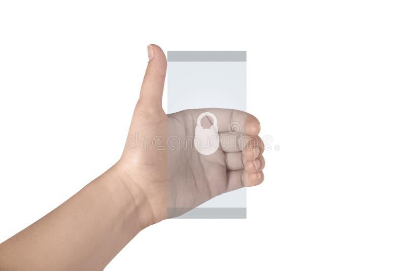 Tel?fono elegante m?vil transparente imagen de archivo libre de regalías