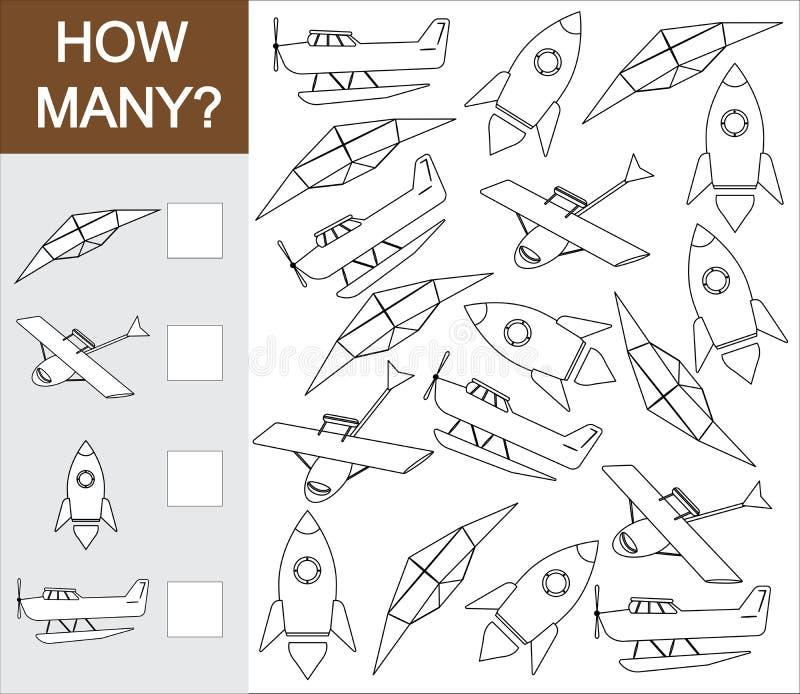 Tel hoeveel voorwerp van luchtvervoer Verfluchtvervoer stock illustratie