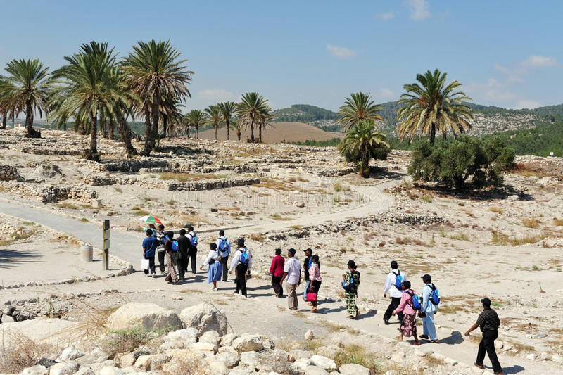 Tel. Megiddo stock foto