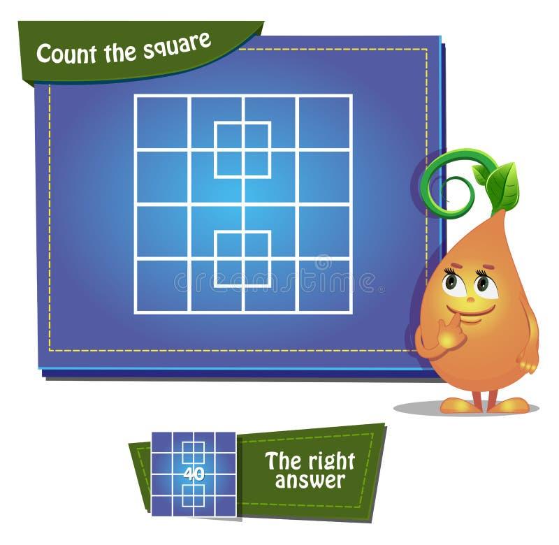 Tel vierkantenspel 5 stock illustratie
