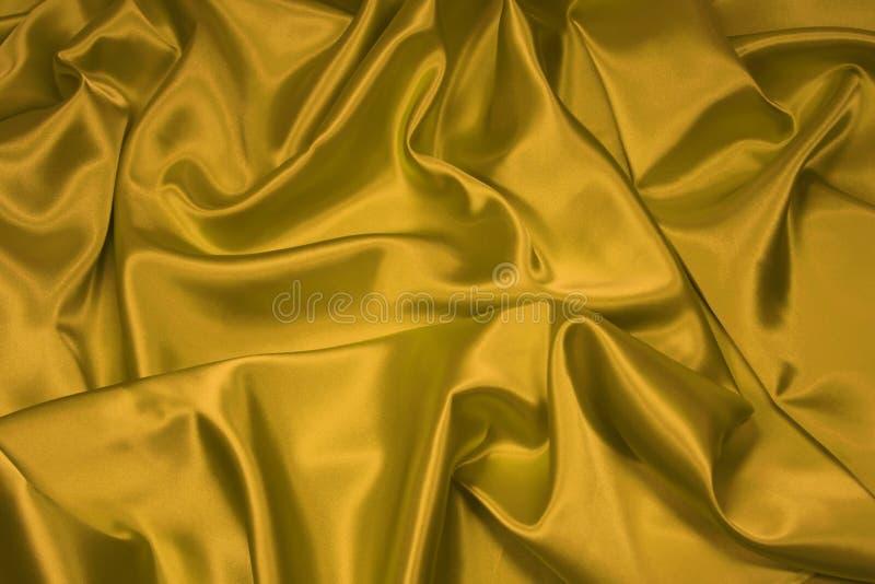 Tela 1 del satén del oro/de seda foto de archivo