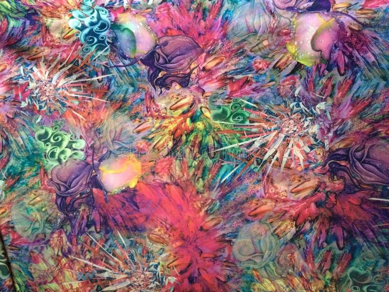 Tela abstracta colorida fotos de archivo