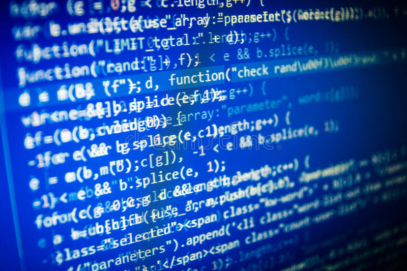 Tela abstrata de programação do código do programador de software ilustração do vetor