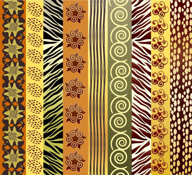 Tela africana ilustración del vector
