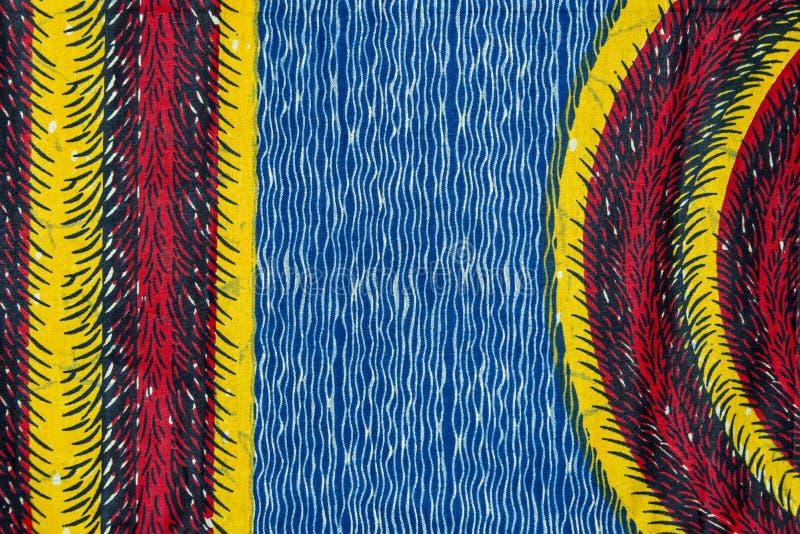 Tela africana manufacturada (algodón) fotografía de archivo libre de regalías