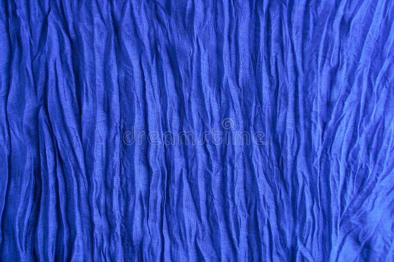 Tela azul Algodão pressionado Fragmento da textura imagens de stock royalty free