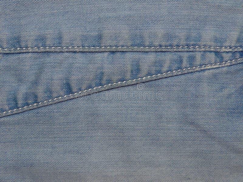 Tela azul del dril de algodón fotos de archivo libres de regalías