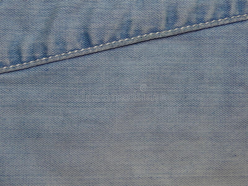 Tela azul del dril de algodón foto de archivo libre de regalías