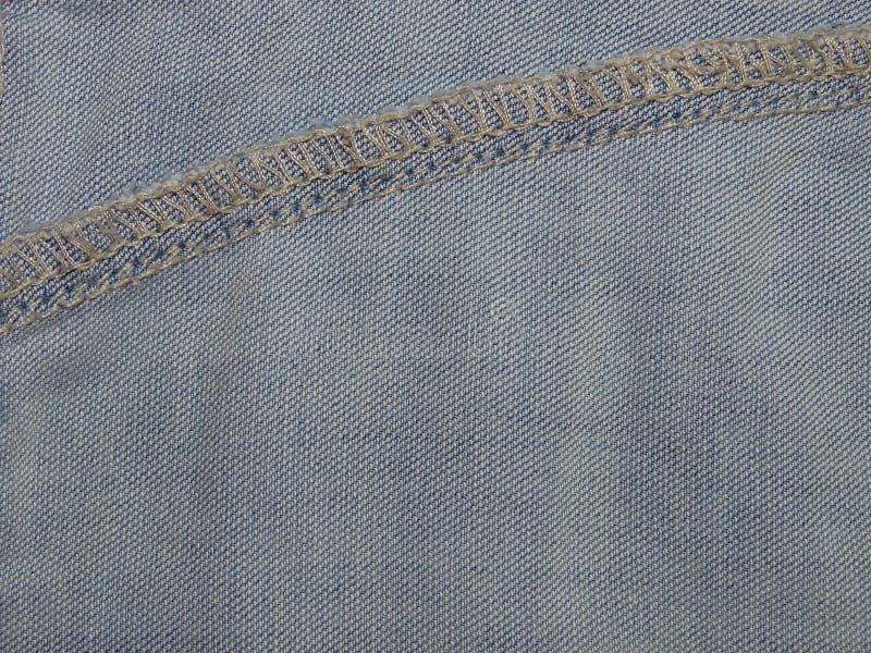 Tela azul del dril de algodón imagen de archivo libre de regalías