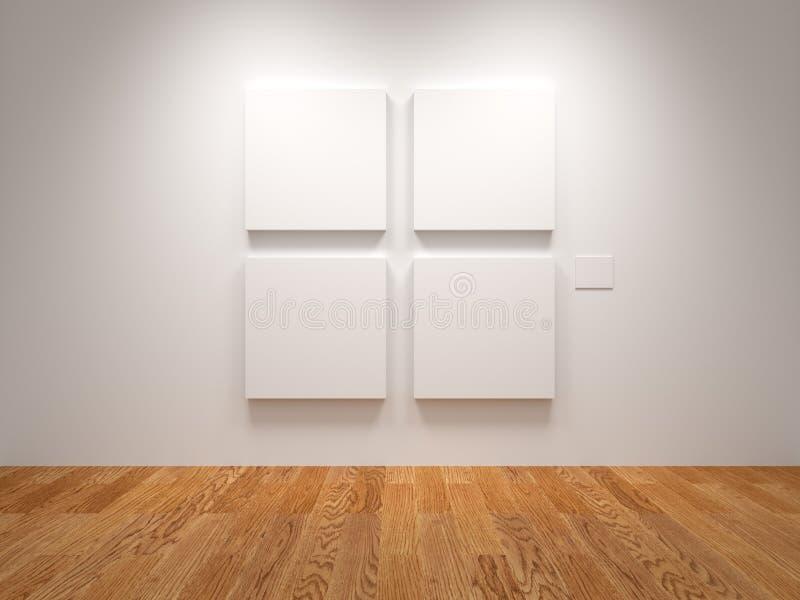 Tela in bianco quattro fotografia stock