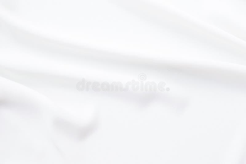 Tela blanca con el fondo del modelo de onda fotos de archivo libres de regalías