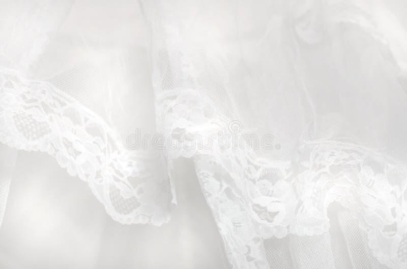 Tela blanca pura de Tulle del cordón del fondo abstracto imagen de archivo