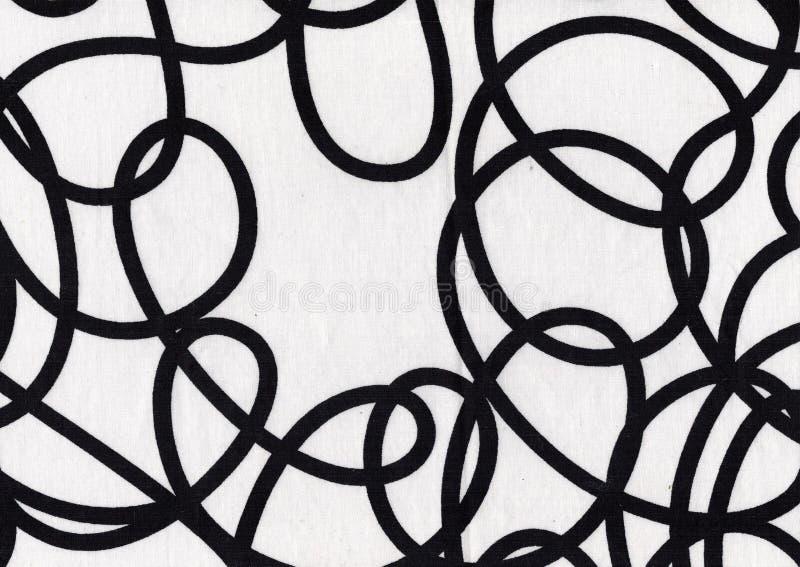 Tela blanco y negro imagen de archivo
