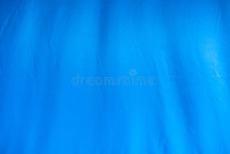 Tela blu della tenda con il fondo del solco immagini stock