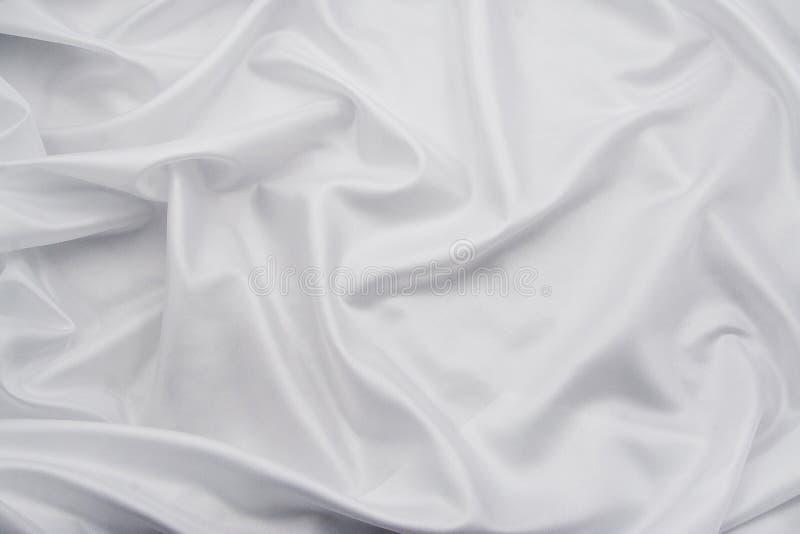 Tela branca 3 do cetim/a de seda imagem de stock