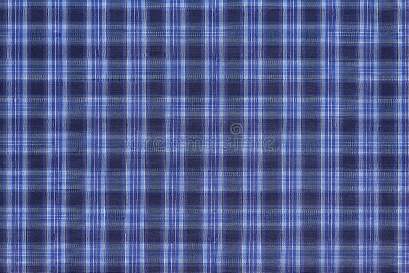 Tela checkered azul imagem de stock royalty free