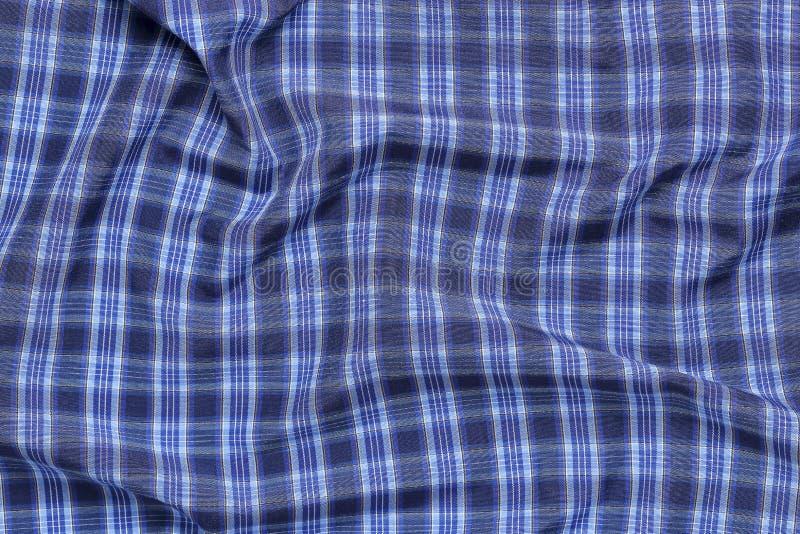 Tela checkered azul fotografia de stock
