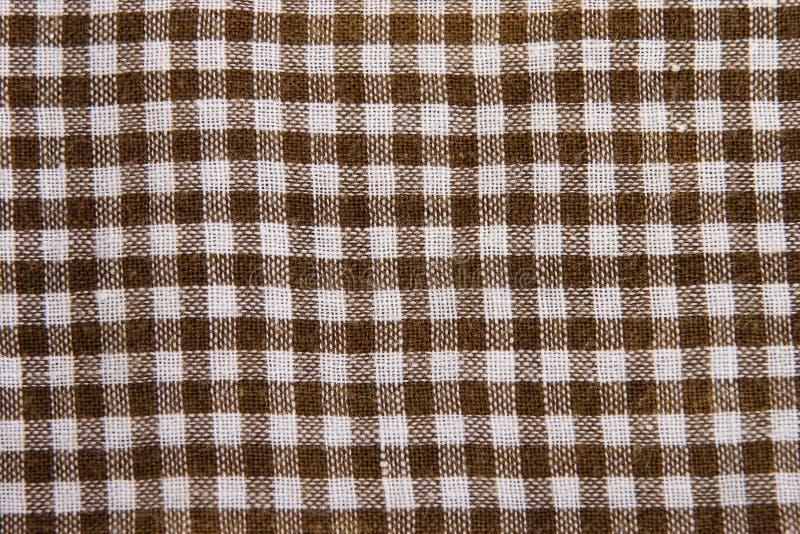 Tela checkered do algodão foto de stock royalty free