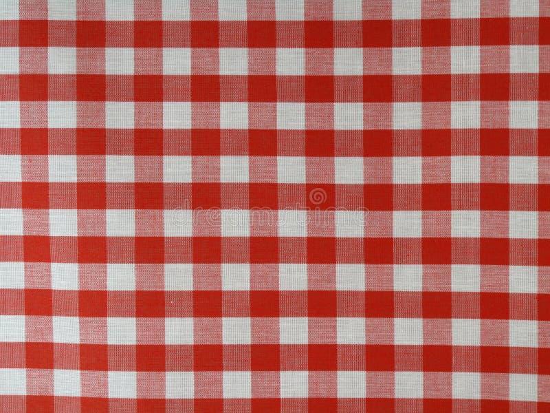 Tela checkered roja imagen de archivo