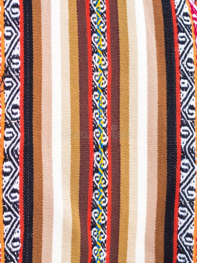 Tela colorida tejida a mano etíope típica fotografía de archivo libre de regalías