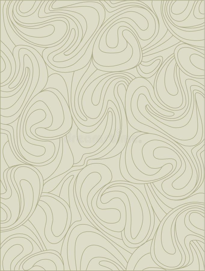 A tela com girar acena no estilo retro ilustração do vetor