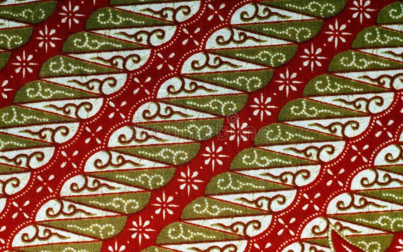 Tela con el modelo floral del batik foto de archivo libre de regalías