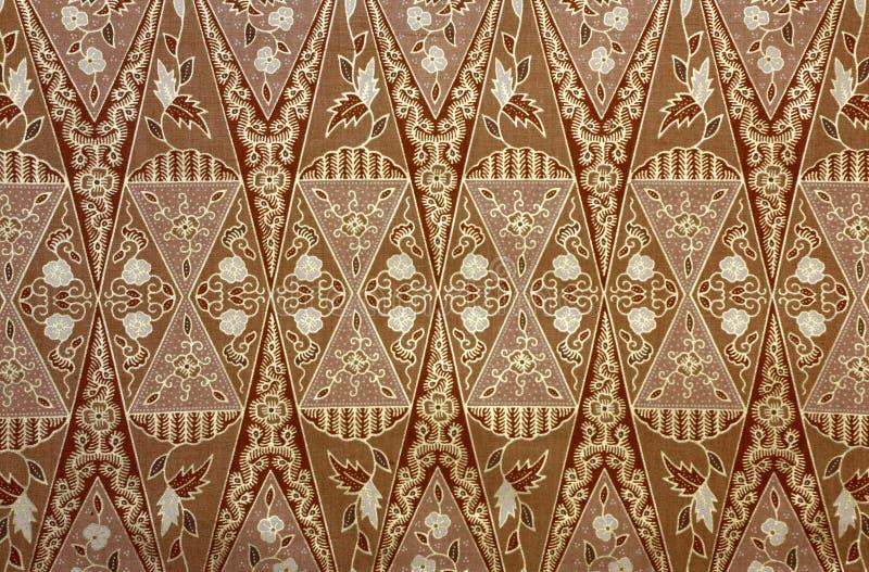 Tela con el modelo floral del batik fotos de archivo libres de regalías
