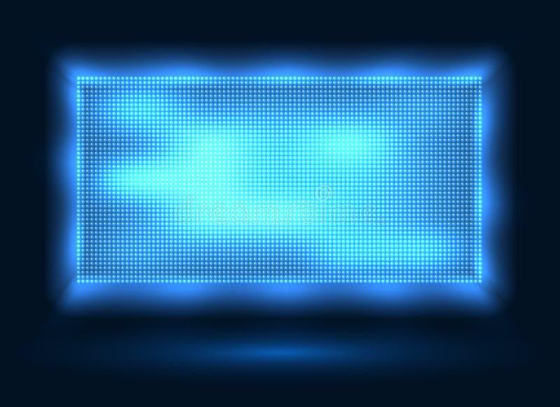 Tela conduzida azul das luzes ilustração do vetor