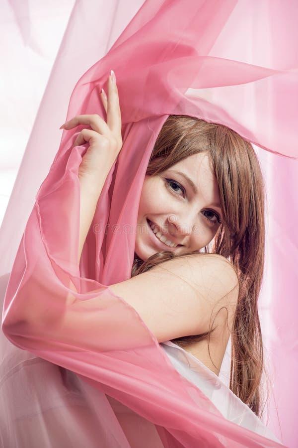 Tela cor-de-rosa imagens de stock