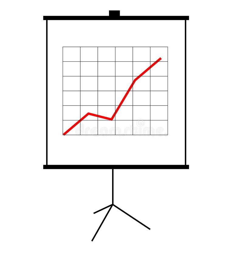 Tela da apresentação ilustração stock