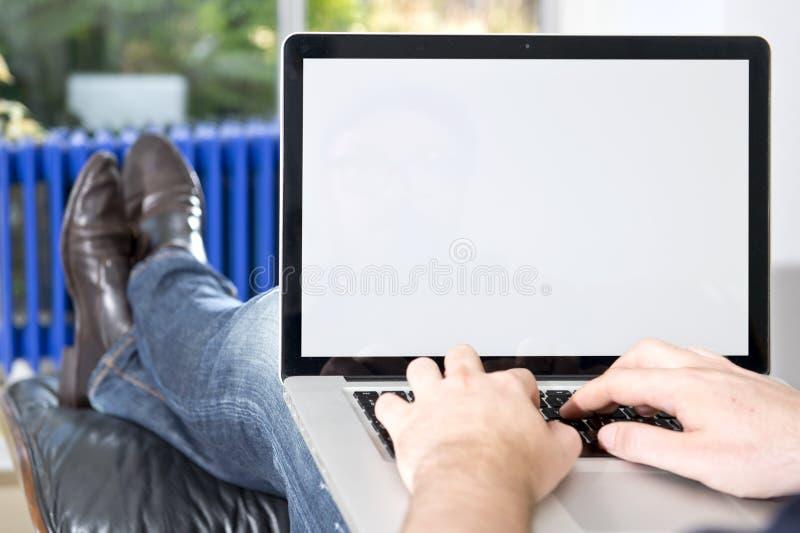 Tela da apresentação do portátil imagem de stock royalty free