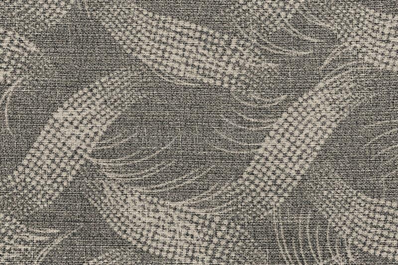 Tela da cor bege com um teste padrão abstrato imagens de stock