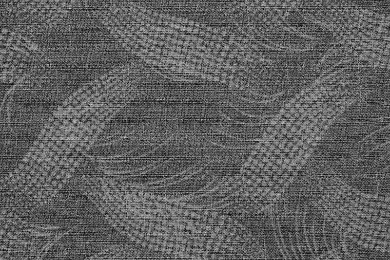 Tela da cor cinzenta com um teste padrão abstrato imagem de stock royalty free