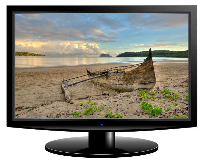 Tela da televisão imagem de stock royalty free