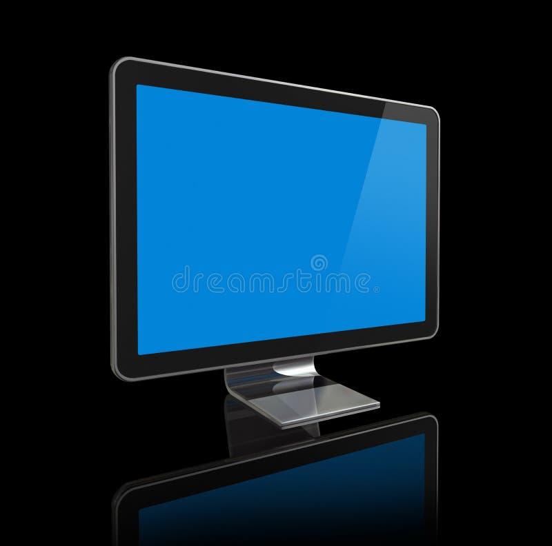 tela da televisão 3D ilustração stock