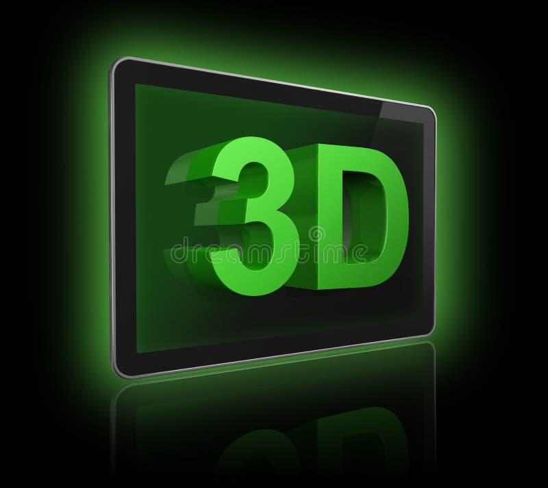 tela da televisão 3D com texto 3D ilustração royalty free