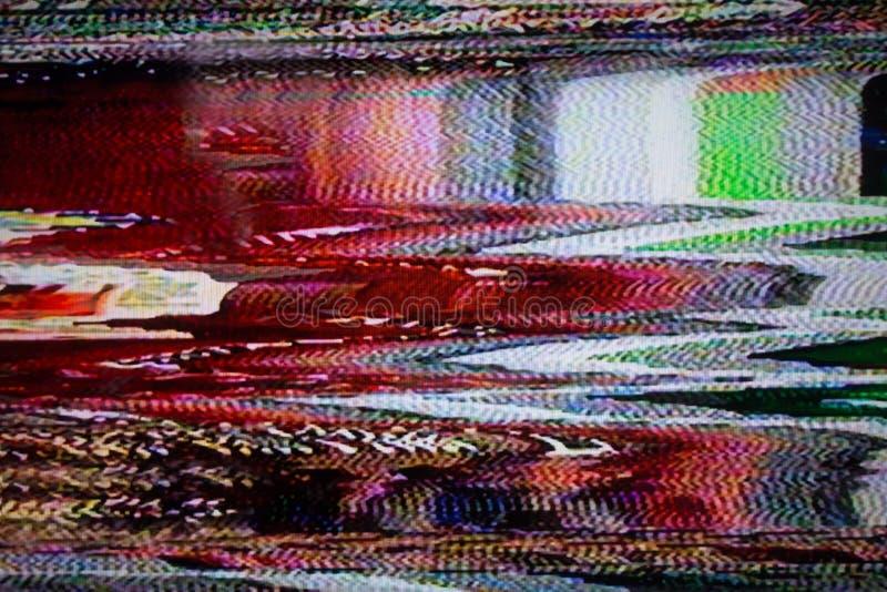 Tela da televisão com ruído de estática foto de stock