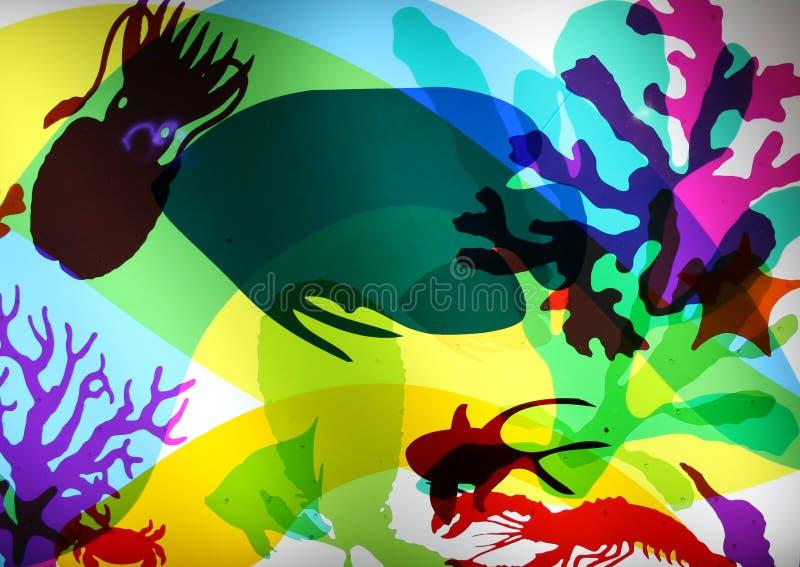 Tela da vida de mar foto de stock royalty free