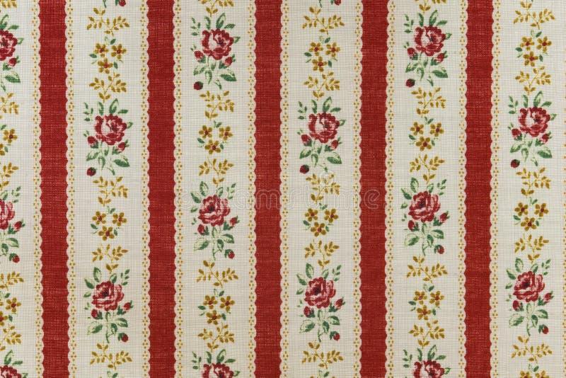 Tela de algodão com rosas fotografia de stock royalty free