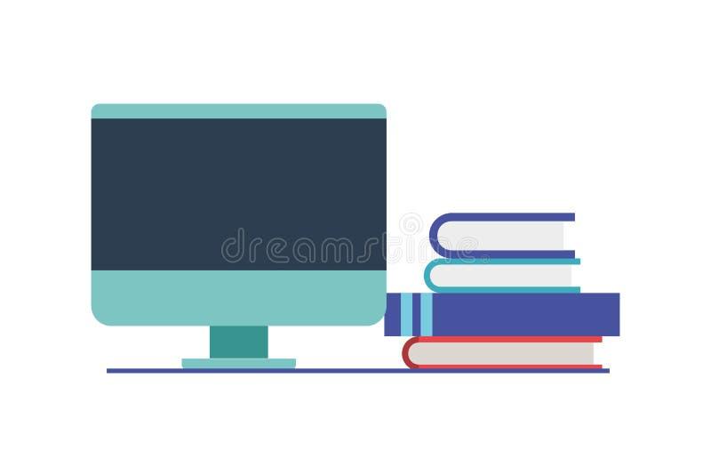 Tela de computador com fundo branco ilustração do vetor