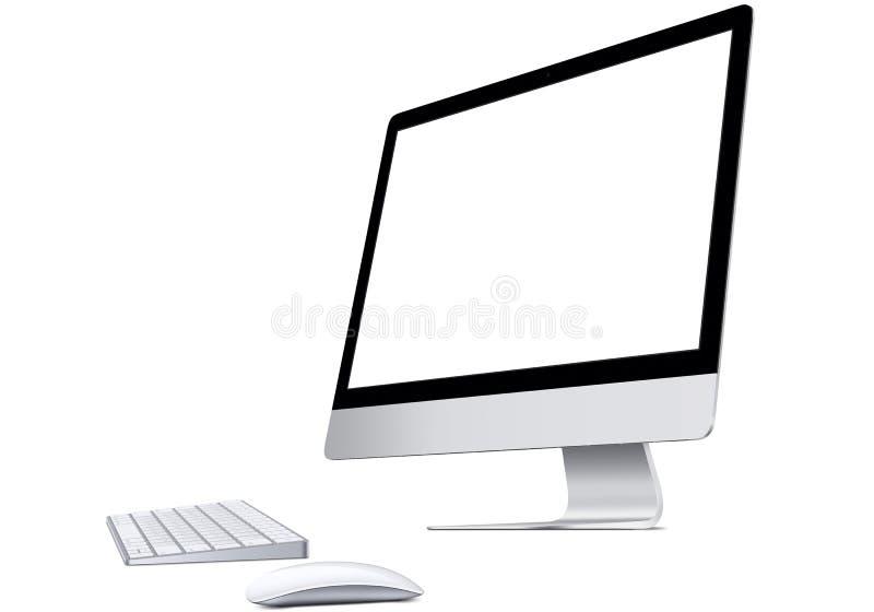 Tela de computador do Mac ilustração do vetor