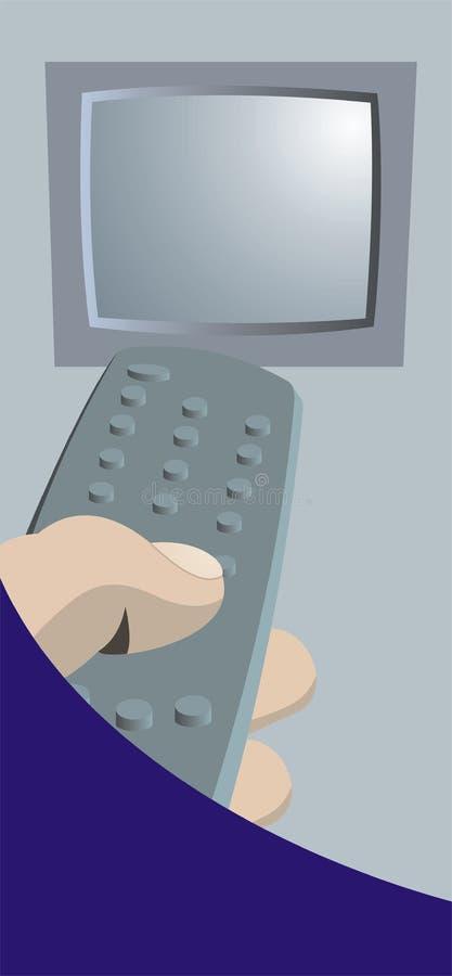 Tela de controle remoto e da tevê ilustração royalty free