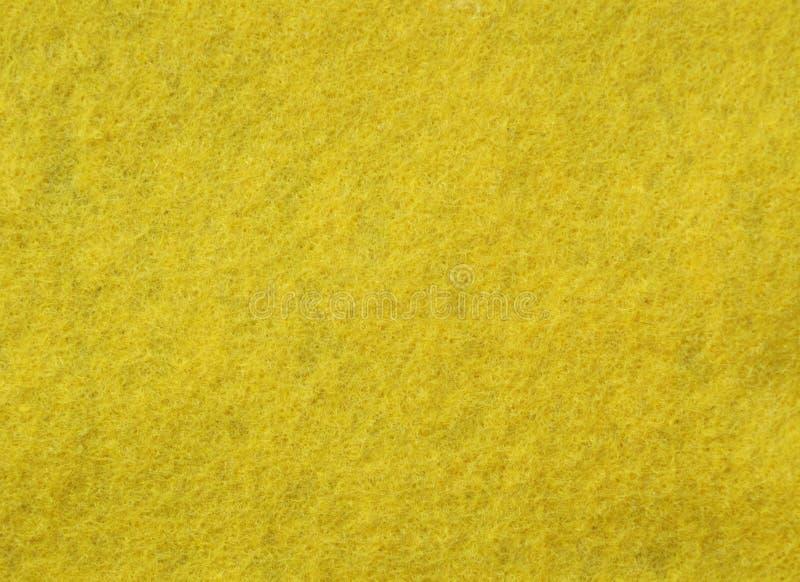 Tela de feltro do amarelo foto de stock