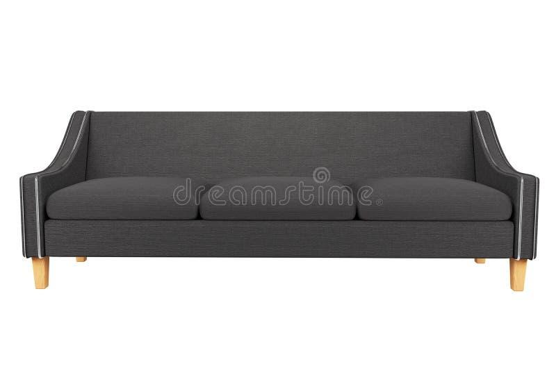 Tela de Gray Sofa e da cadeira de couro no fundo branco para o uso nos gráficos, foto que edita, sofás, várias cores, vermelho ilustração stock
