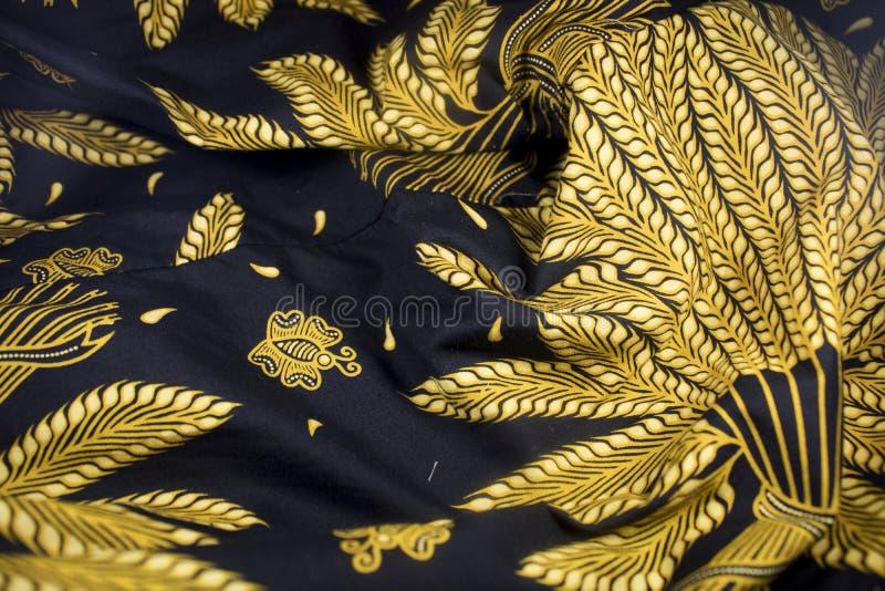 Tela de la cultura de Java Indonesia del javanese del batik fotos de archivo