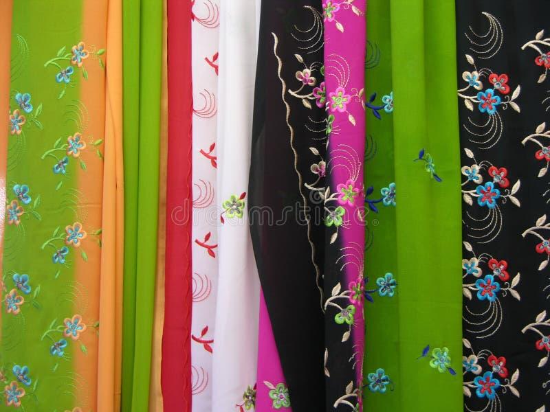 Tela de la sari imagenes de archivo
