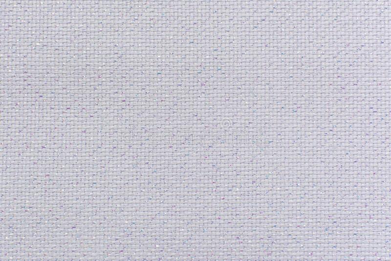 Tela de lino natural blanca con el primer del lurex de la brillantez fotos de archivo libres de regalías