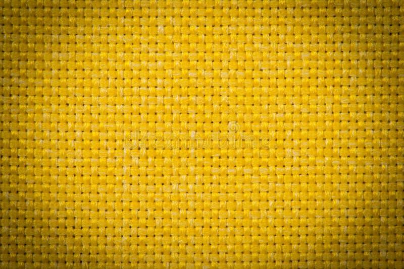 Tela de lino natural para el bordado Color amarillo foto de archivo
